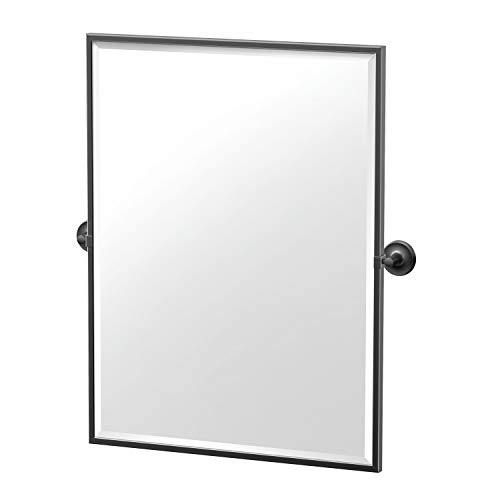 Gatco Designer II Framed Rectangle Mirror, 32.5 Inch, Matte Black