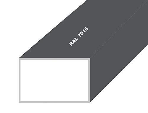 Aluminium Rechteckrohr Alu Profilrohr Vierkantrohr Anthrazit RAL 7016 20x10x2mm 500mm Anthrazit RAL 7016