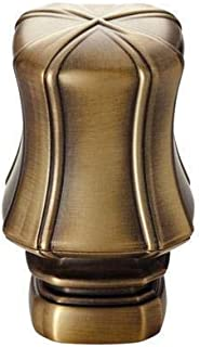 Kirsch Curtain Rod Finial PAIR Brushed Gold with Oil-rubbed Bronze Endcap
