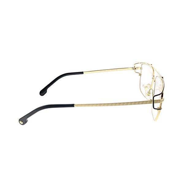 Versace VE 1257 1436 Gold Metal Hexagonal Eyeglasses 55mm
