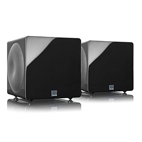SVS 3000 Micro Subwoofer (Piano Gloss Black, Pair) | Active Dual 8-in...