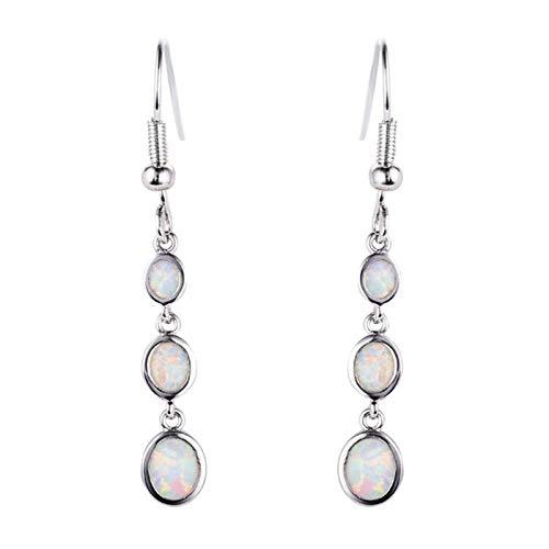 U/K Long Dangle Earrings Sterling Silver Hypoallergenic Pendant Hook Earrings Jewelry Girl Birthstone Gift (Color : 2)
