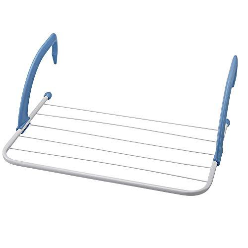 MeGaProm - 5,5m Wäschetrockner, Wäscheständer, Trockengestell, Balkontrockner, Wäscheleinen, Handtuchhalter für Heizung, Balkon und Badewanne