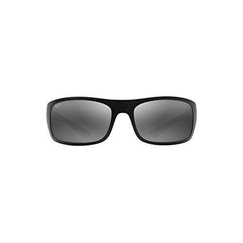 Maui Jim Men's Mirrored Big Wave 440-2M Black Cat Eye Sunglasses