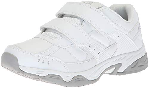 Avia Women's Avi-Union Strap II Food Service Shoe, White/Chrome Silver, 6 Medium US