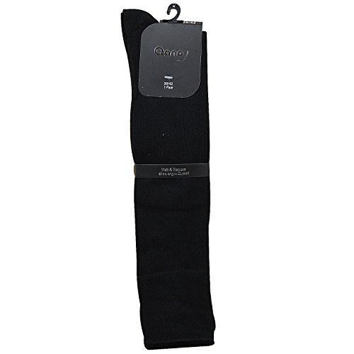 Qano Relax 7008 Gr.39-42 2 Paar Damen Kniestrümpfe ohne enges Gummi Diabetiker geeignet schwarz