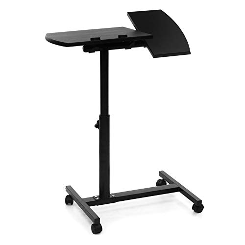 GIAO Side Table Mobile Table Workstation Adjustable Height Laptop Stand Rolling Cart Desk Computer Table Desk Bed Sofa Tray Rolling Portable Notebook Desk With Wheels