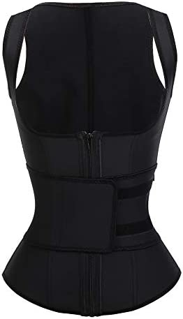 FeelinGirl Women s Latex Underbust Training Cincher Workout Waist Trainer Corset XXL Black product image