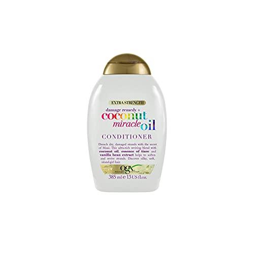 OGX Acondicionador Reparador sin Sulfatos para Pelo Dañado, Coconut Miracle Oil, 385 ml