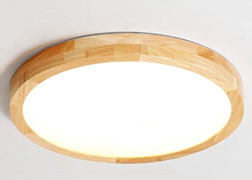 Home mall- Plafonnier LED en bois 16W / 20W / 36W / 44W Moderne Mode Salon Chambre Cuisine Cuisine Chambre pour enfants Lumière neutre (taille : 40 * 5.5cm)