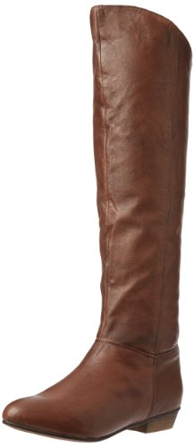Hot Sale Steve Madden Women's Creation Knee-High Boot,Tan Leather,8 M US