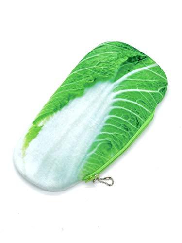 ロジック 食べ物 ペンケース [おしゃれ文房具/筆箱/ポーチ] リアルテイスト 薄い 大きめ (白菜)
