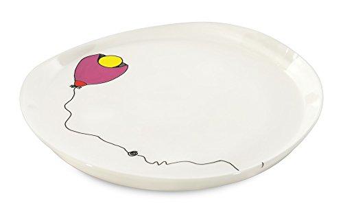 BergHOFF 3705003 Codriez Set de 2 Assiettes Ronde Porcelaine vernie Décoré 28 cm
