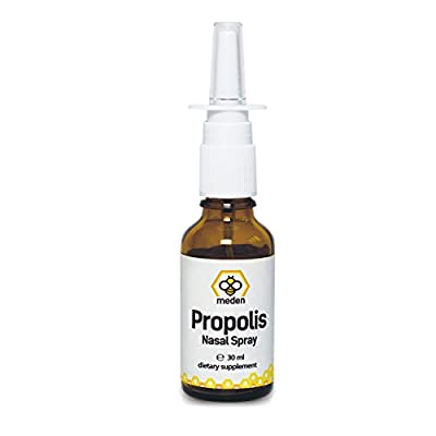 100% Pure Propolis Nasal Spray 30ml - Congestion Relief - Instant Action - Blocked Nose, Cold flu, hay Fever, Allergies, sinusitis - Natural, Eucalyptus and Propolis