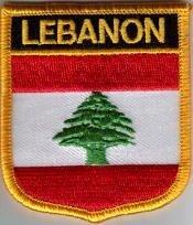 Flaggen Aufnäher Patch Libanon Fahne Flagge - 7 x 6 cm