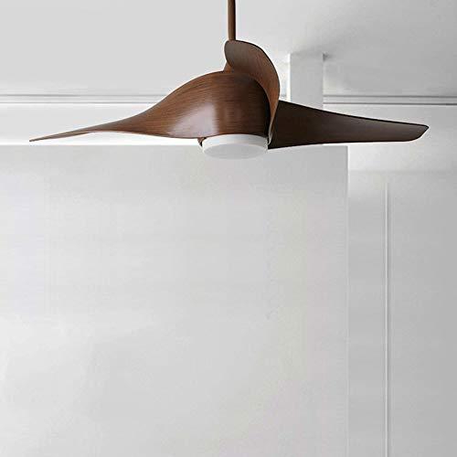 The only Good Quality indoor Scandinavisch Macaron propeller retro kroonluchter volledige diameter 120 cm lamp diameter 12 cm afstandsbediening schakelaar ventilator kroonluchter bruin groen restaurant slaapkamer studie woonkamer