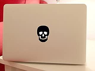 Skull Apple Logo Black Vinyl Car Sticker Symbol Silhouette Keypad Track Pad Decal Laptop Skin Ipad Macbook Window Truck Motorcycle