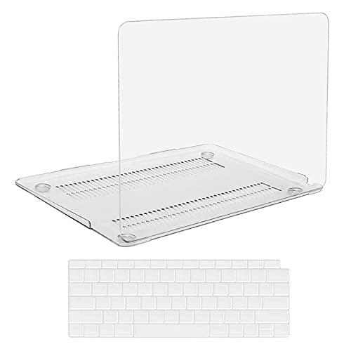 KEROM Custodia per MacBook Pro 13 2020-2016 modello M1 A2338 A2289 A2251 A2159 A1989 A1708 A1706, in plastica trasparente e protezione per tastiera per MacBook Pro 13, colore: Trasparente