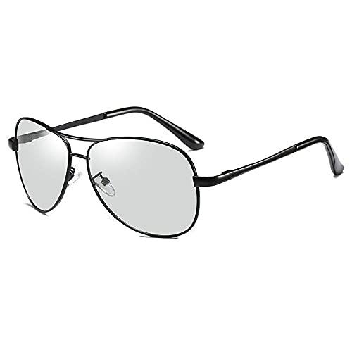 XXBFDT Gafas Sol Hombre Polarizadas, Deportivas - Gafas de sol de visión nocturna de polarización de carga-Color de caja negra