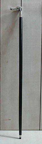 Graf von Gerlitzen Metall Holz Silber Farbe Spazier Stock Spazierstock Gehhilfe Hund B106