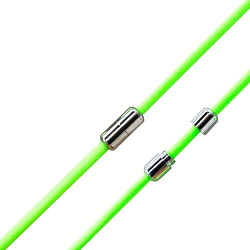 Run out sports Elastische Schnürsenkel ohne binden - schleifenlos - elastisch - Schnellschnürsystem / Schnellverschluss mit Metallkapsel (Neon-Grün)