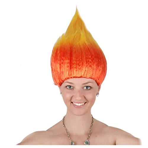 unbrand Frauen Haarperücke Kurzes Haar Hitzebeständige Multi Farbe Perücke für Cosplay Halloween Christmas Party Kostüm Perücke