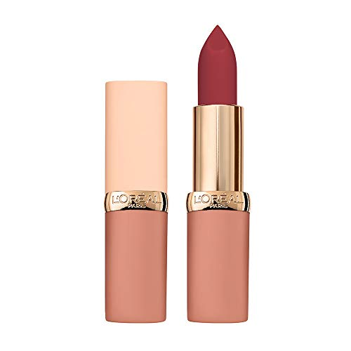 L'Oréal Paris Color Riche Ultra Matte Free the Nudes 06 No Hesitation, farbintensiver Lippenstift im zarten Nude-Ton, ultra-mattes Finish