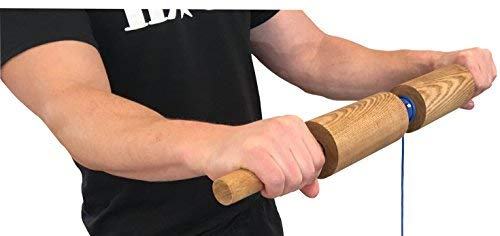 Wrist Blaster - Forearm, Hand and Wrist Roll and Twist Exerciser Fat Grip (2.5 Inches, Cylinder)