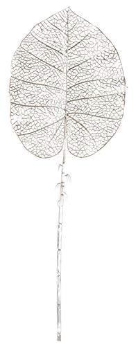Hoja Artificiales Decoración Jarrones, Flores Decorativas de PVC. Hoja Dorada/Plateada 28x84cm (Plateado)