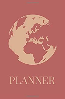 Planner: Undated 52 Weeks Organizer With Weekly Agenda, Goal Setting, Reflection And Motivational Quotes With Globe USA, Canada And South America Cover