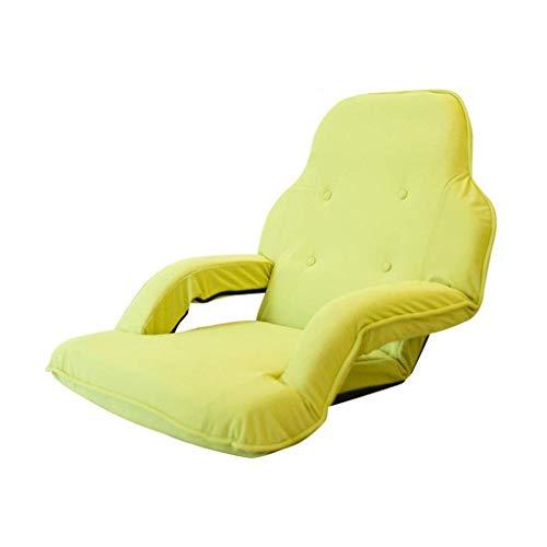 YLCJ Terra stoel met armleuningen verstelbare rugleuning slaapbank slaapbank Pigro Tatami bekleding van elastische stof (groen)