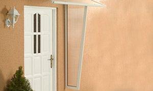 ACE Alu-Seitenblende für Pultvordach Haustürvordach Standard weiß 53/30 x 180 cm