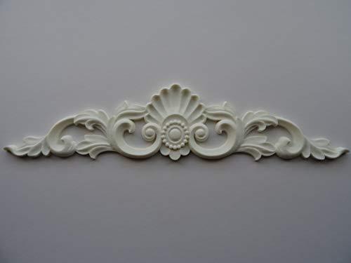 Forever chic furniture moulding Dekorative Muschel- und Scroll-Mittelapplikation, M4 (Off White)