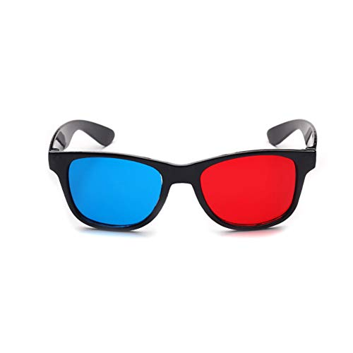 Kappha 3D Bril met Anaglyph Technologie Rood en Blauw Dimensionale 3D Vision Bril voor Films PC Games DVD