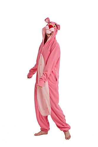 Mono de pijama unisex para adultos, de felpa, mono, disfraz de pantera, disfraz de animal, cosplay, Halloween, carnaval, oso