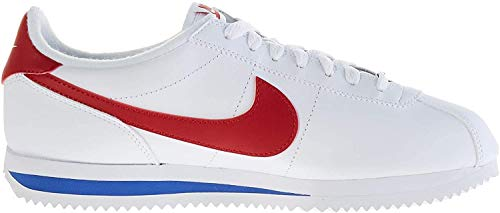 Nike Herren Cortez Basic Leather Laufschuhe, Weiß (White/Varsity Red/Varsity Royal 103), 42 EU