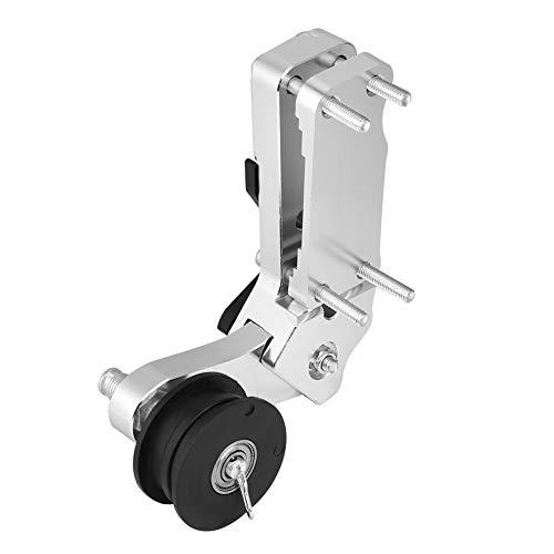 Broco Motorrad Teller Kettenspanner Roller CNC-Aluminiumlegierung Universalwerkzeug (Silber)