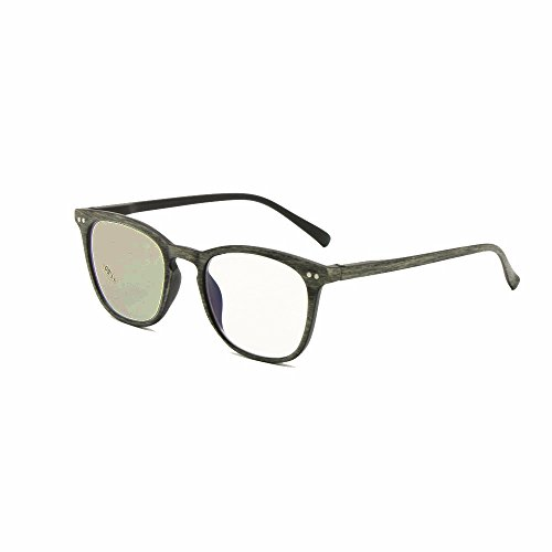 Transición fotocromática progresiva multi Focus gafas de lectura nerd retro varifocal no línea gradual + RX clarividente UV400 gafas de sol (+2.00, Trans-Progress(gris))