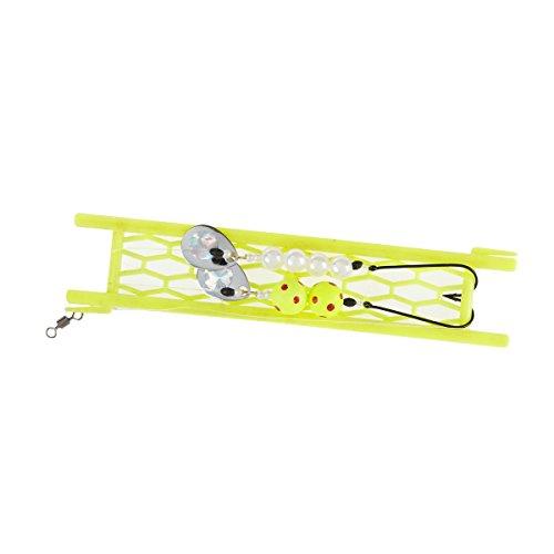 Balzer Plattfisch Blinker Set - 1 Buttlöffel + 2 Vorfächer zum Plattfischangeln, Meeresvorfächer & Locklöffel für Schollen & Butts, Gewicht:80g
