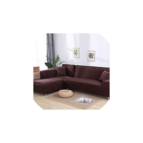 Sofa Covergrey Color Tight Wrap Sofa Cover Elastic Needs Order 2 Pieces Sofa Cover If L-Style Sectional Corner Sofa,Coffee,3-Seater 190-230Cm