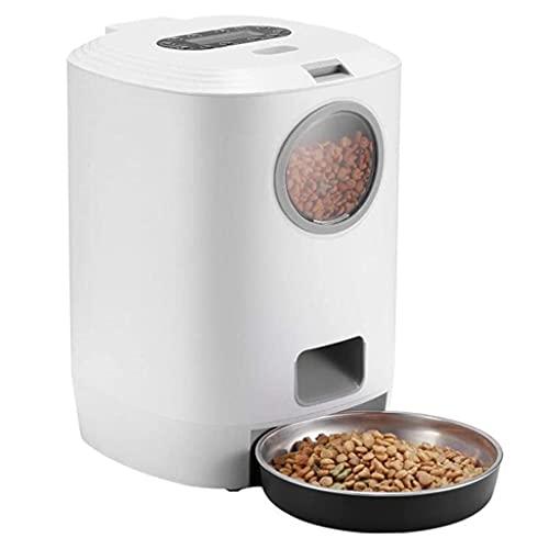 JNXY Alimentador automático inteligente para mascotas gato perro dispensador de alimentos electrónico alimentador con temporizador y grabador de voz Cat Dog Alimentación Bowl