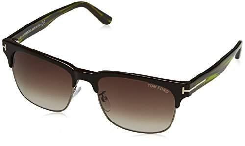 Tom Ford Herren FT0386 48K 55 Sonnenbrille, Braun (Marrone Scuro Luc/Roviex Grad)
