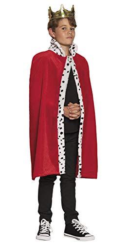 Boland 36100 koningsjas kind 80 cm, unisex, rood,