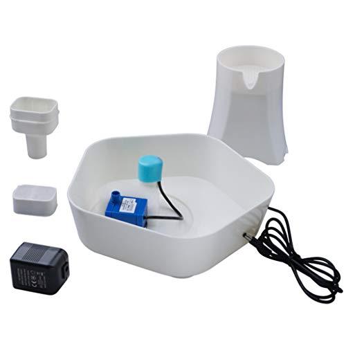 QueenYA Katze Trinkwasser-Brunnen, Haustier-Wasser-Brunnen für Katzen und Hunde, elektrischer Haustier-Wasserspender, Wasserbrunnen Pet Trinkbrunnen