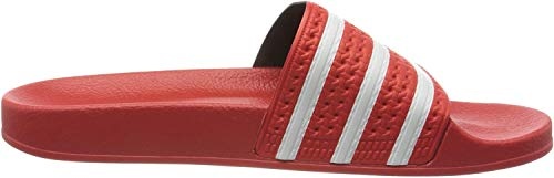 adidas Herren Adilette Flip Flops, Rot (Lush Red Footwear White Lush Red), 48 2/3 EU