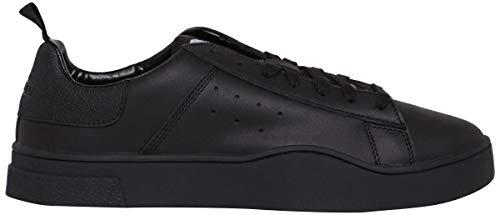 Diesel Men's S-Clever Low-Sneakers, Black/Black, 11 M US