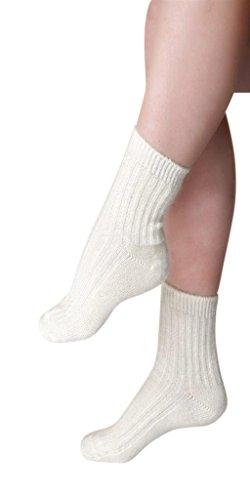 Moser care and support wear Angora Fußwärmer (Paar), 40prozent Angoraanteil, Socken (39-41, Natur)