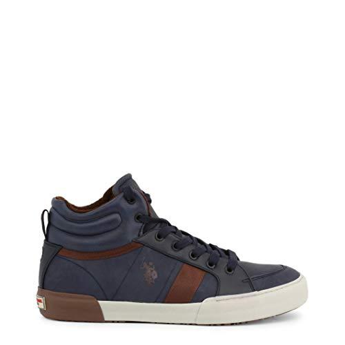 U.S. POLO ASSN. Chaussures Sneakers Montantes Aspect Cuir bi Color - Blue - EU 42