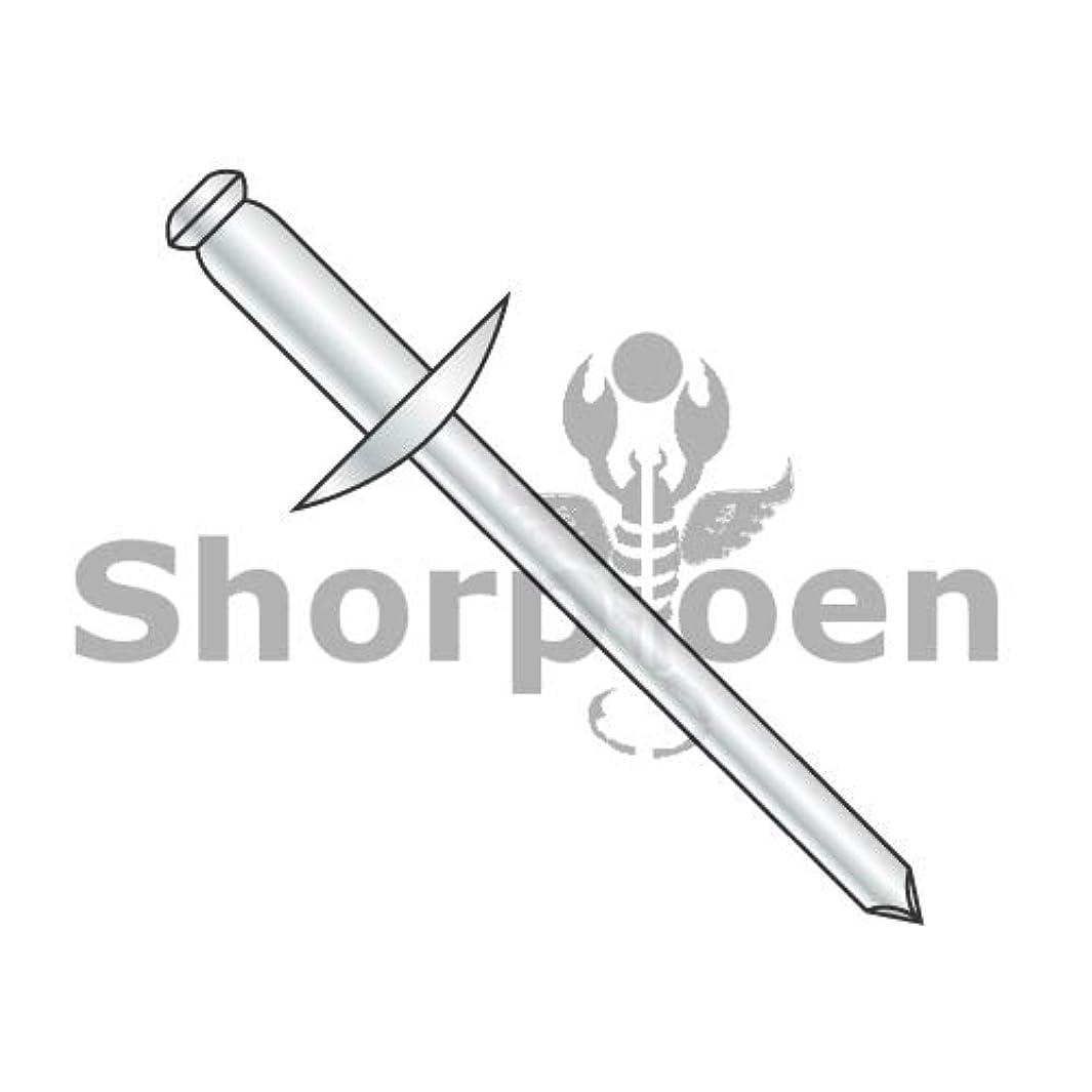 SHORPIOEN Large Flange Aluminum Rivet with Aluminum Mandrel 3/16 x .06-.25 BC-ADA64L-12 (Box of 12)