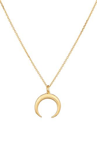 Córdoba Jewels | Gargantilla en Plata de Ley 925 bañada en Oro diseño Luna Horn Oro Mini